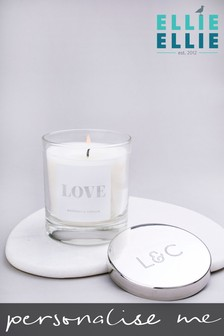 Personalised Love Vanilla And Coconut Scented Candle By Ellie Ellie