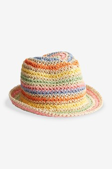 Rainbow Straw Hat (Younger)