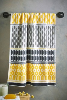 Yellow/Grey Geo Towels