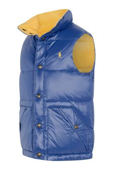 Boys Blue Reversible Padded Gilet
