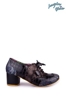 Irregular Choice Black Clara Bow Lace Up Shoes
