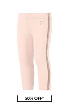 Aigner Pink Cotton Leggings
