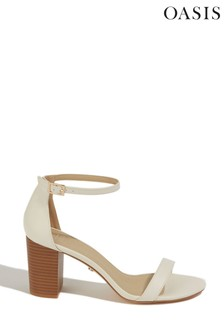 Oasis White Reli Block Heel Sandals