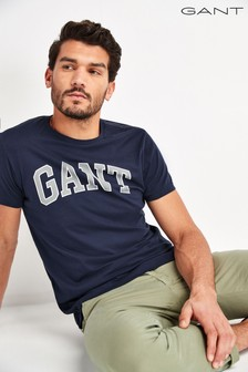 GANT Navy Arch Outline Short Sleeve T-Shirt