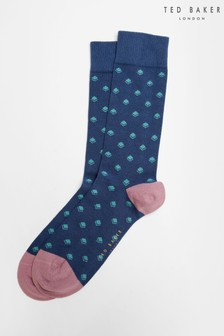 Ted Baker Dipdap Geometric Pattern Socks