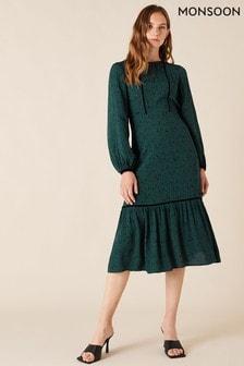 Monsoon Printed Midi Dress