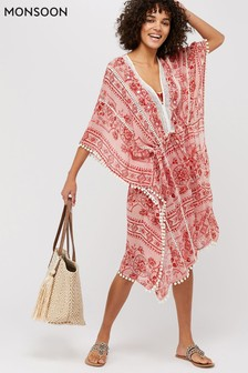 Monsoon Red Florence Kaftan