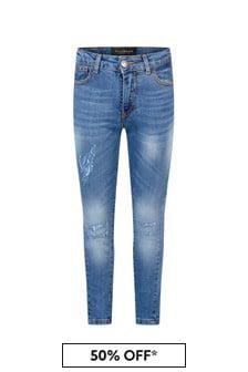 John Richmond Boys Blue Cotton Jeans
