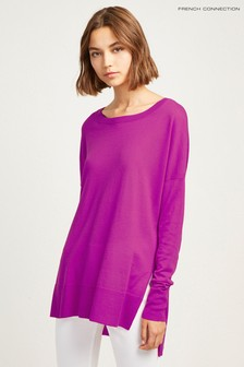 French Connection Purple Spring Light Kints Round Neck Jumper
