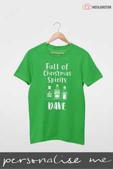 Personalised Christmas Spirit T-Shirt by Instajunction