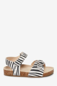Corkbed Leather Buckle Sandals (Younger)