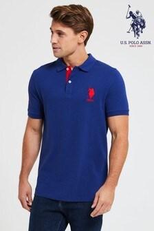 U.S. Polo Assn. Blue Large Pique Poloshirt
