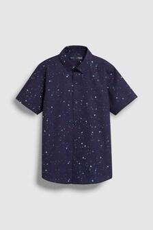 Рубашка с ярким принтом брызг (3-16 лет)