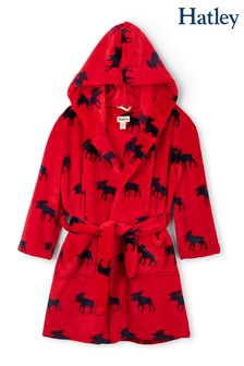Hatley Red Moose Fleece Robe