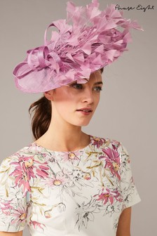 Phase Eight Pink Mikaela Feather Disc Fascinator