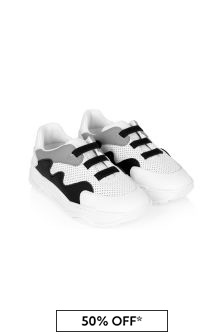 Emporio Armani Boys White Trainers
