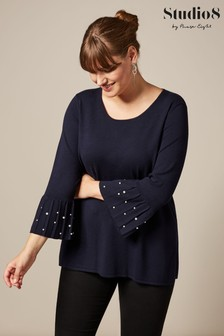 Studio 8 Blue Catalina Pearl Knit Top