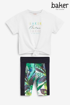 Baker by Ted Baker T-Shirt And Cycling Shorts Set