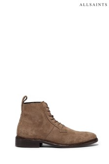 AllSaints Camel Trent High Top Lace-Up Suede Boots