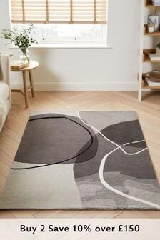 Grey Solitude Abstract Rug