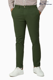 Ben Sherman Green Signature Slim Stretch Chinos