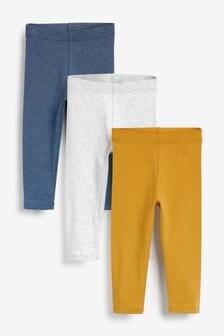 3 Pack Basic Leggings (3mths-7yrs)