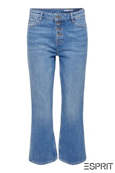 Esprit Light Blue Cropped Stretch Jeans
