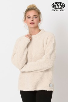 Animal Coconut Cream Cuddle Fleece Top