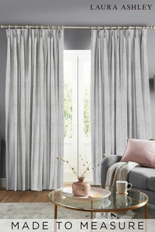 Laura Ashley Whinfell Silver Made to Measure Curtains