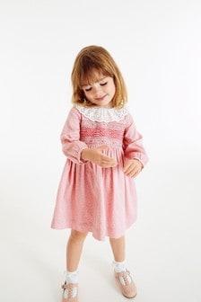Shirred Cotton Dress (3mths-7yrs)