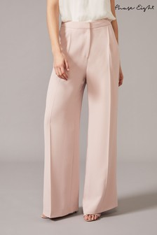 Phase Eight Pink Cadie Wide Leg Suit Trousers