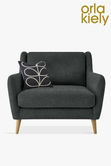 Orla Kiely Fern Snuggle Sofa with Oak Feet