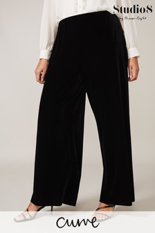 Studio 8 Black Lauren Velvet Trousers
