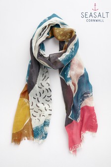 Seasalt Pretty Printed Scarf Men-An-Tol Sunset Shadow