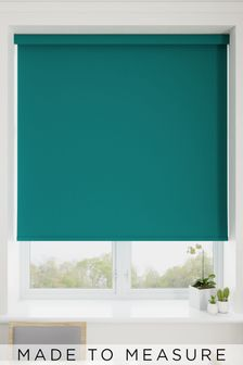Haig Teal Blue Made To Measure Blackout Roller Blind
