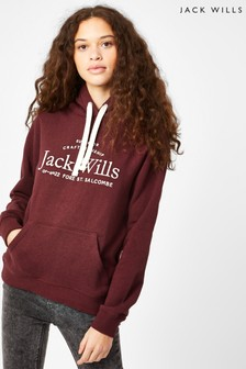 Jack Wills Damson Hunston Embroidered Hoody