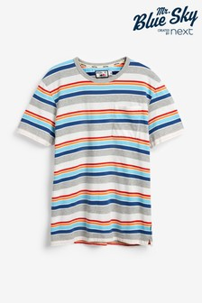 Mr Blue Sky Organic Cotton Stripe T-Shirt