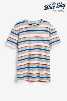 Mr Blue Sky Organic Cotton Stripe T-Shirt