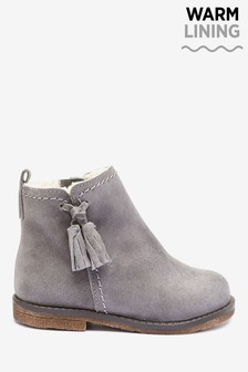 Suede Tassel Boots (Younger)