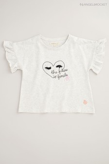 Angel & Rocket Grey Heart T-Shirt