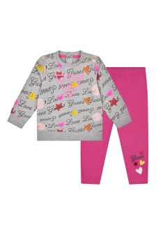 Baby Girls Pink Cotton Set