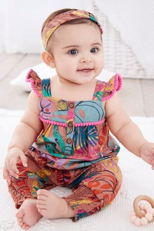 Tropical Romper And Headband Set (0mths-2yrs)