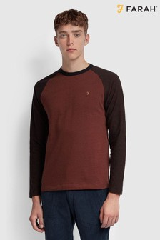 Farah Brown Redington Raglan T-Shirt