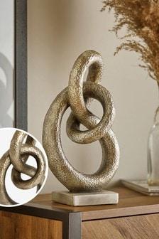 Gunmetal Large Knot Ornament