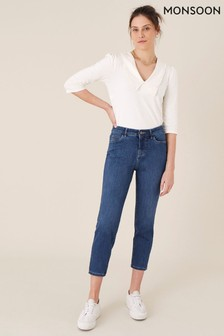 Monsoon Safaia Crop Jeans With Organic Cotton