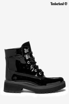 Timberland® Black Carnaby Lace-Up Patent Boots