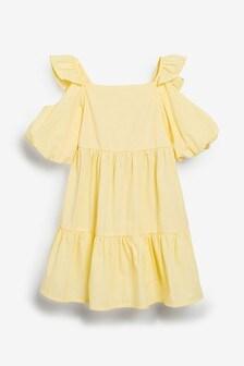 Tiered Puff Sleeve Dress (3-16yrs)