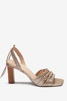 Signature Plait Detail Sandals
