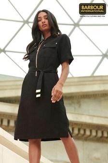 Barbour® International Black Cotton Twill Drifting Dress