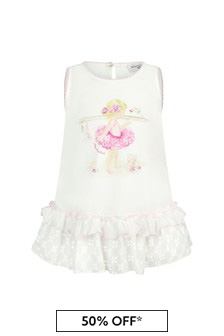 Baby Girls White Cotton Top
